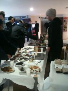 A taste table at Brunel University