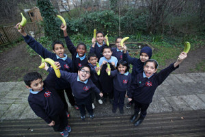 The Tower Hamlets Fairtrade Network calculated that the borough's schools ate 40,630 Fairtrade bananas last year!