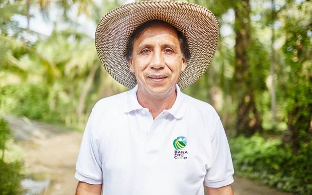 Leonidas Jiménez Chaparro, banana farmer, Colombia